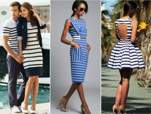 Стильное платье в морском стиле подходит практически всем