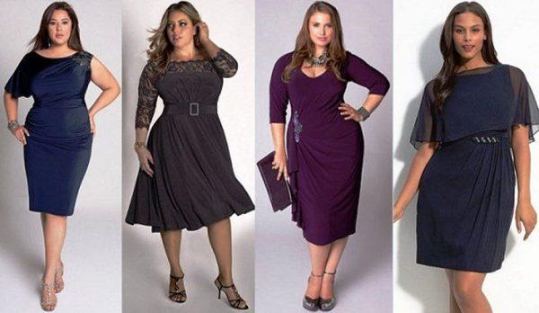 Платья очень идут полным дамам, главное - подобрать фасон