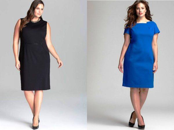 Платье-футляр скрывает недостатки фигуры