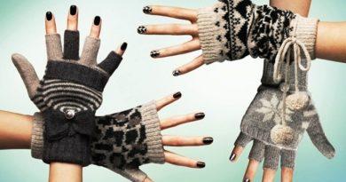 Модные женские перчатк