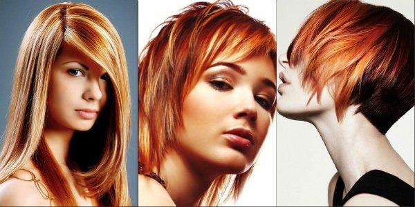 На рыжих волосах отлично выглядит мелирование