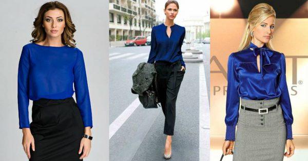 c5bc8212c4b Синяя блузка — как и с чем носить и подойдет ли модная синяя блузка ...
