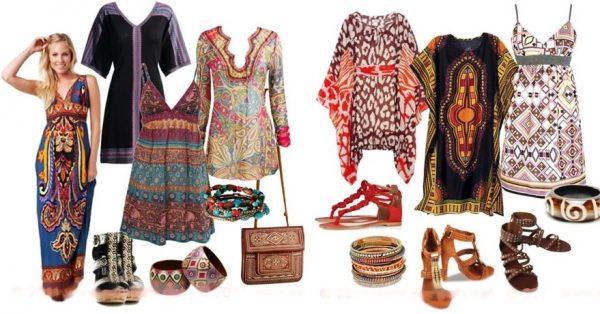 Африканский стиль сочетает в себе мотивы этно, хиппи и бохо стиля