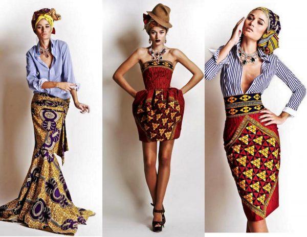 Отличительная особенность африканского стиля - яркость цветов, множество различных принтов и рисунков