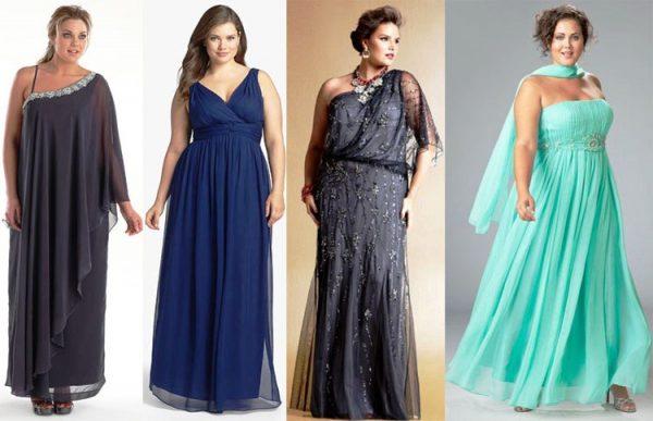 Платье в несколько слоев скроет недостатки фигуры