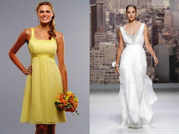 Платье в греческом стиле придаст образу нежность и романтизм