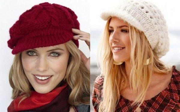 Подбирать шапку нужно исходя из особенностей строения лица, цвета кожи.К примеру, если у девушек крупный подбородок, то им рекомендуют носить вязаные кепи.