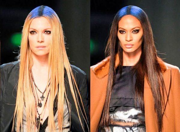 Прямые длинные волосы в тренде этого сезона