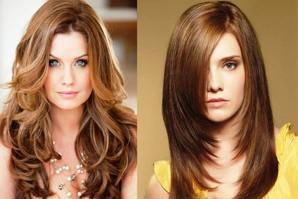 стрижка типа «каскад» для длинных волос