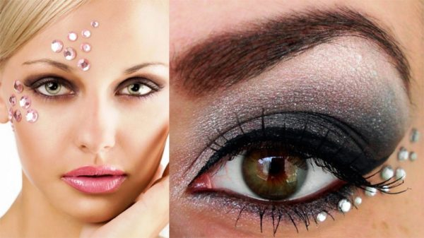 Стразы на глазах от Christian Dior