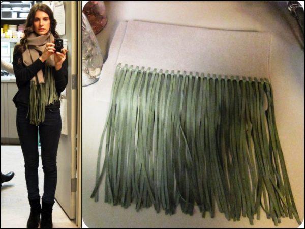 Вот такой модный и стильный шарф можно сделать своими руками