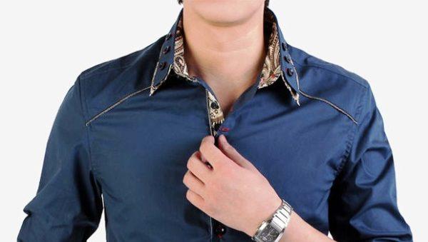 Как петли, так и полочки, а также пуговицы и прочие застегивающие элементы, так же являются частью мужской рубашки