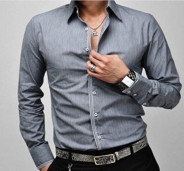 Итальянские манжеты на мужской рубашке самые распространенные