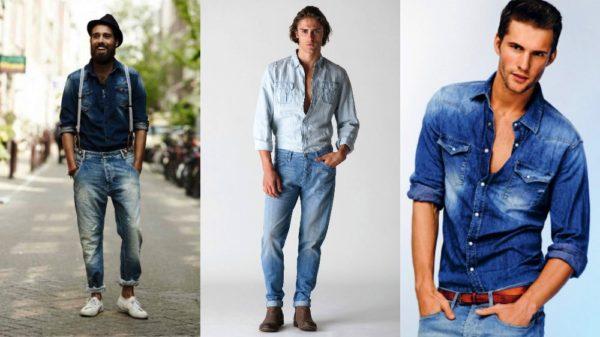 Джинсовые рубашки будут элегантно и органично смотреться в дуэте с брюками из денима и льна.