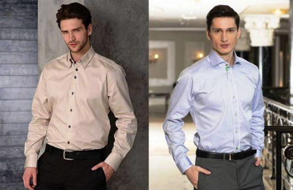 Стильные цветные мужские сорочки подбирайте как дополнение к спокойным, однотонным джинсам, брюкам
