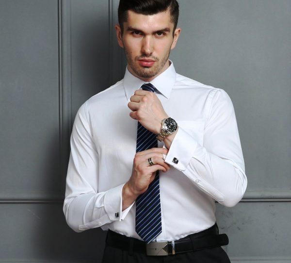 Создавайте индивидуальные стильные образы с классическими мужскими рубашками и драповыми пиджаками, шелковыми платками, галстуками