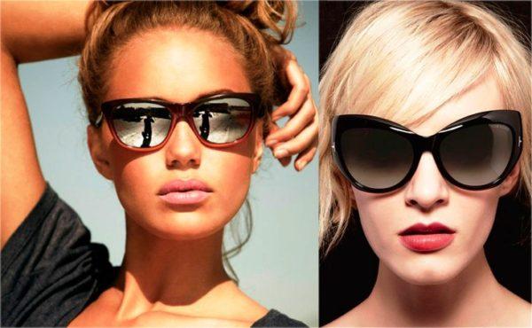 очки по форме подбородка