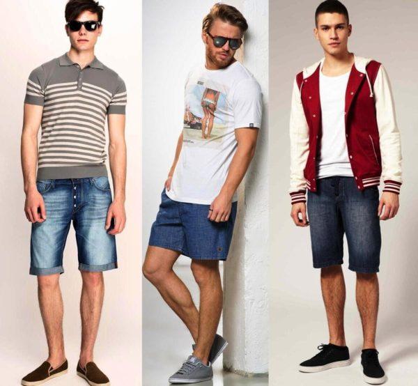 Мужские джинсовые шорты - универсальная вещь, носить их можно с чем угодно