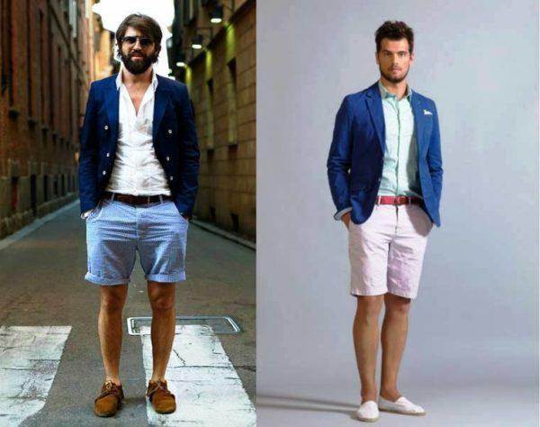 Современные джинсовые мужские шорты бывают самых разных фасонов, цветов и форм.