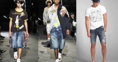 Дизайнеры не устают создавать новые модели мужских джинсовых шорт