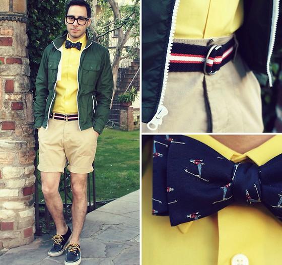 Не забывай и об аксессуарах: винтажные мужские шорты будут лихо смотреться с новым ремнем, а пижонский галстук-бабочка отлично дополнит образ