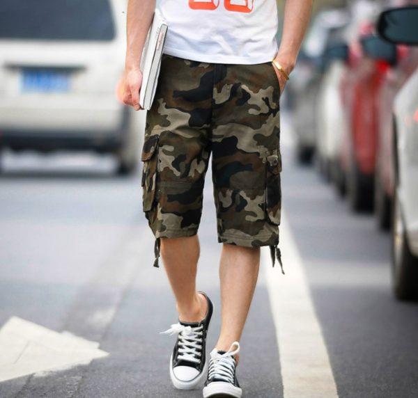 Мужские шорты в стиле милитари - удобная неформальная одежда