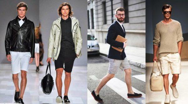 Классические мужские шорты должны быть однотонной окраски