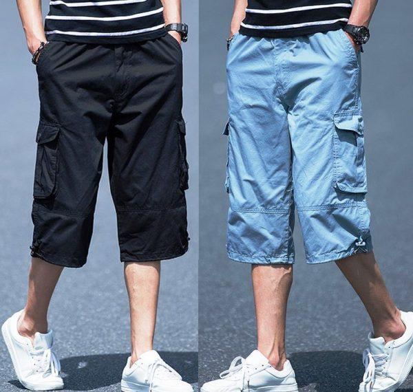 Длинные мужские шорты - отличный вариант для повседневной носки
