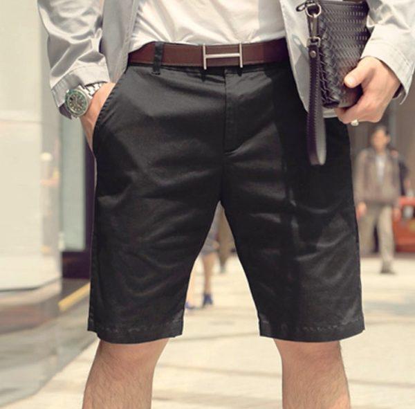 Мужские шорты для офиса должны быть спокойной однотонной расцветки