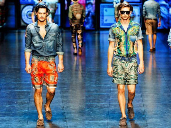 Дизайнеры придумывают все более яркие цвета и причудливые принты на мужских шортах