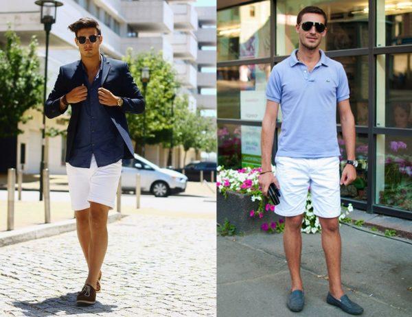 Белые шорты сочетаются с любыми модными цветами