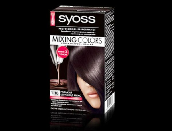C краской Syoss Mixing Colors Горький шоколад микс можно добиться желаемого эффекта