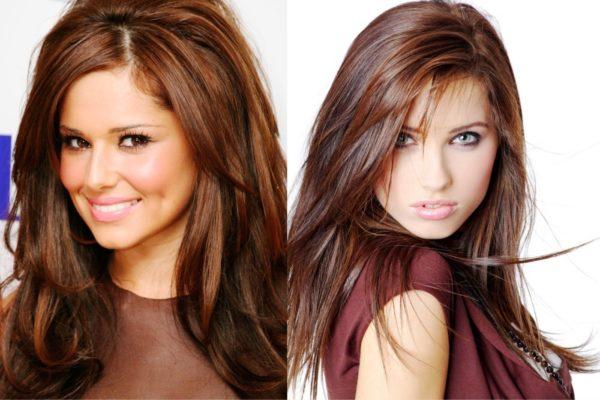Коричневый цвет волос подходит для девушек с мягкими чертами лица
