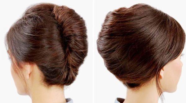 """Прическа для длинных волос """"ракушка"""""""