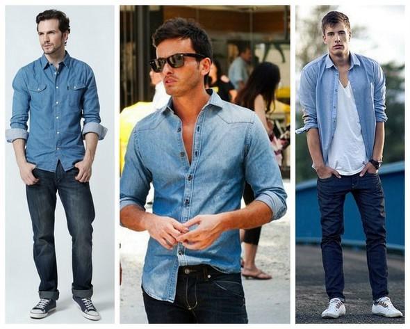 Джинсовая мужская рубашка пользуется большой популярностью