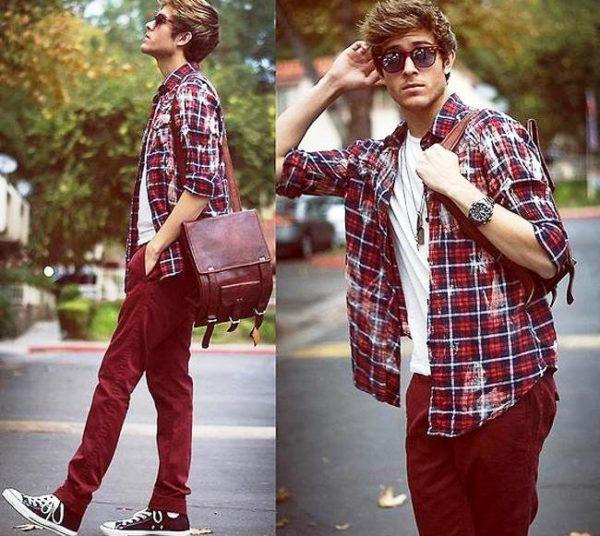 Джинсы, футболка, фланелевая или джинсовая рубаха - и стиль casual готов
