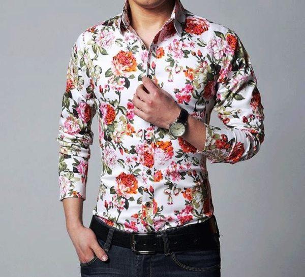 Мужские рубашки с цветочным принтом