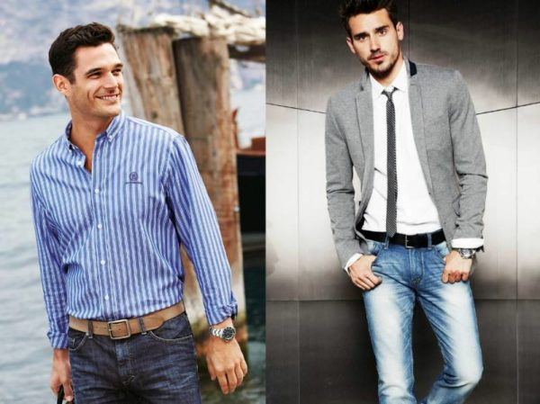 Эту рубашку можно надеть и под пиджак и под джинсы
