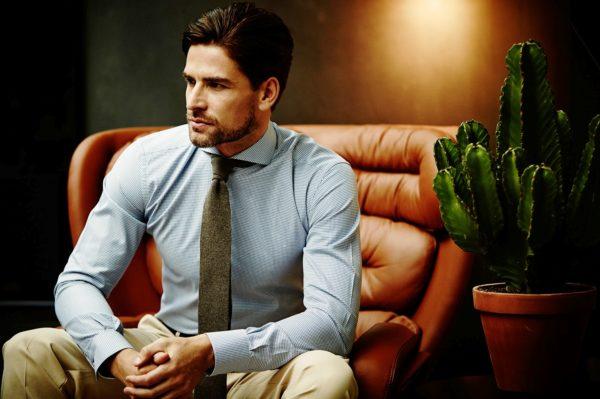 Мужска рубашка оксфорд