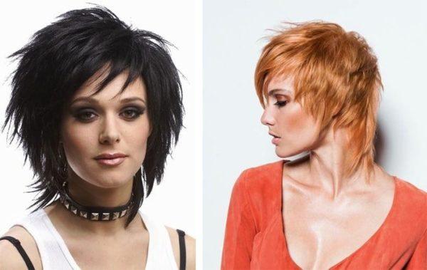 Лучше всего эта модная женская стрижка смотрится на волосах средней длины