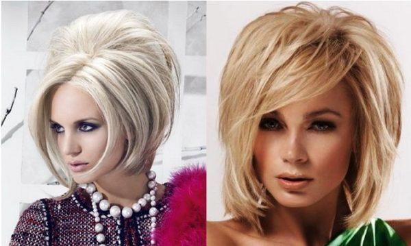 Модно и стильно на полудлинных волосах смотрится объемная укладка
