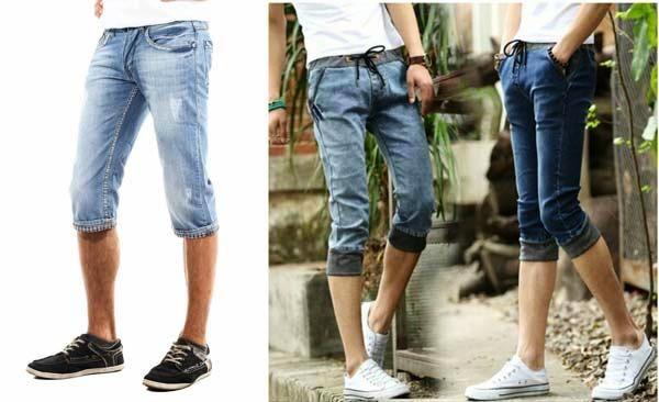 Спортивная обувь больше всего подходит под джинсовые модели мужских бридж
