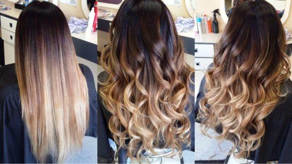 Балаяж превосходно смотрится на русых волосах, когда осветленные кончики выглядят так, будто выгорели под солнцем