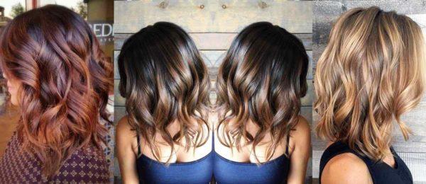 Окрашивание балаяж на средние волосы смотрится очень эффектно