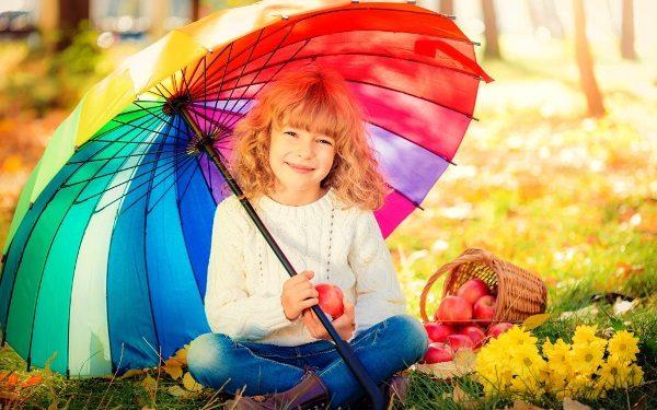 Зонт с резиновой ручкой