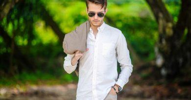 Белая мужская рубашка 4