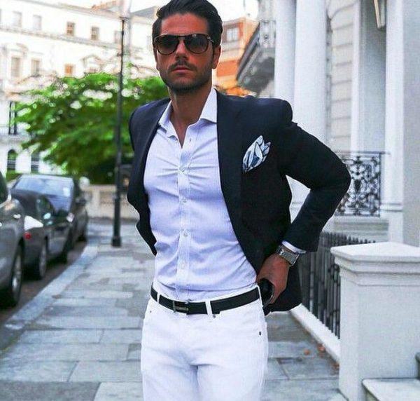 Белая мужская рубашка 3