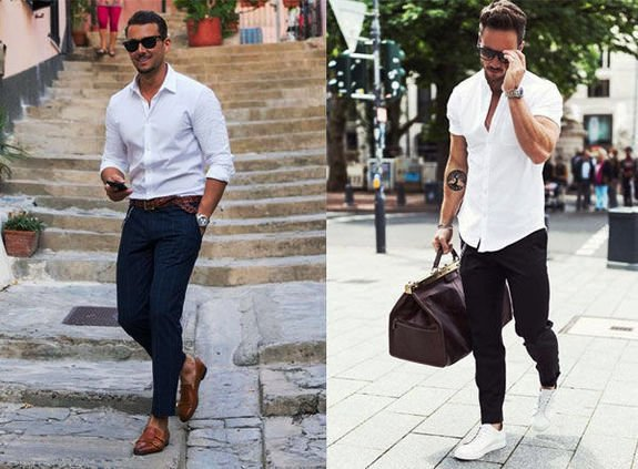 Белая мужская рубашка 1