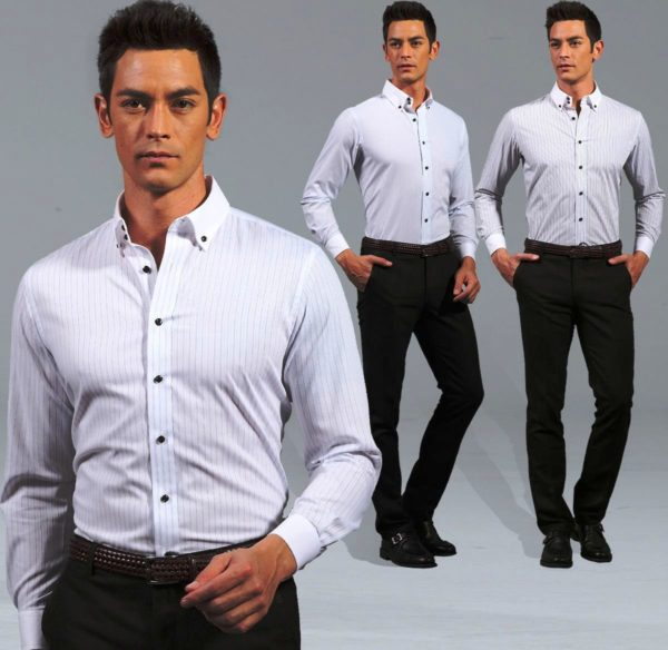 Белая мужская рубашка 2