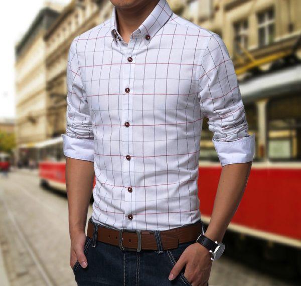 Приталенная мужская рубашка 2